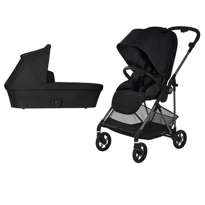 CYBEX Melio Bundle - Deep Black-Stroller Bundles- Natural Baby Shower