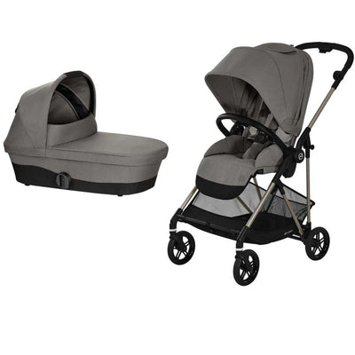 CYBEX Melio Bundle - Soho Grey-Stroller Bundles- Natural Baby Shower