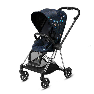 CYBEX Mios Pushchair - Jewels of Nature-Strollers-Chrome Black-No Carrycot- Natural Baby Shower