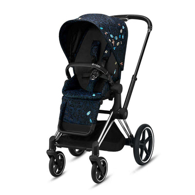 CYBEX Priam Pushchair - Jewels of Nature-Strollers-Chrome Black-None- Natural Baby Shower