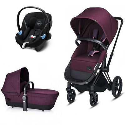 CYBEX Priam Travel System - Grape Juice-Travel Systems-No Base- Natural Baby Shower