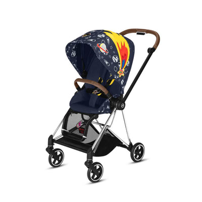 CYBEX Mios Pushchair - Space Rocket-Strollers-Chrome + Brown- Natural Baby Shower