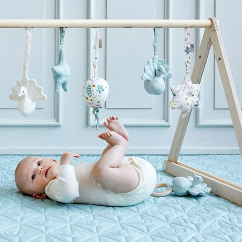 Cam Cam Copenhagen Balloon Play Gym Toy - Pressed Leaves Blue-Baby Gyms- Natural Baby Shower