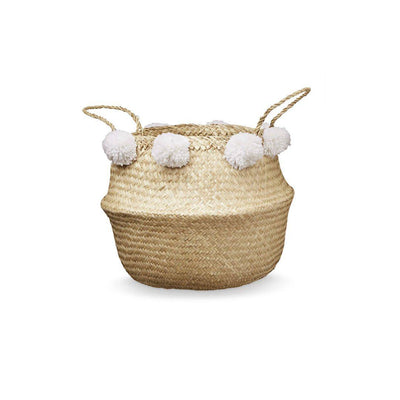 Cam Cam Copenhagen Belly Basket - White-Storage- Natural Baby Shower