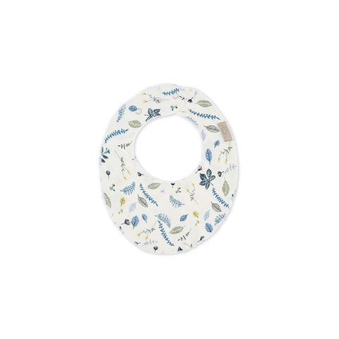 Cam Cam Copenhagen Bib - Pressed Leaves Blue-Bibs- Natural Baby Shower