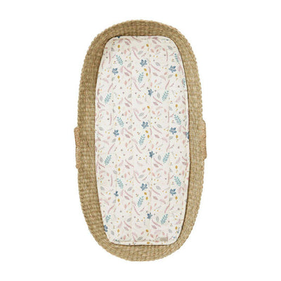 Cam Cam Copenhagen Changing Basket Liner - Pressed Leaves Rose-Changing Mats & Covers- Natural Baby Shower