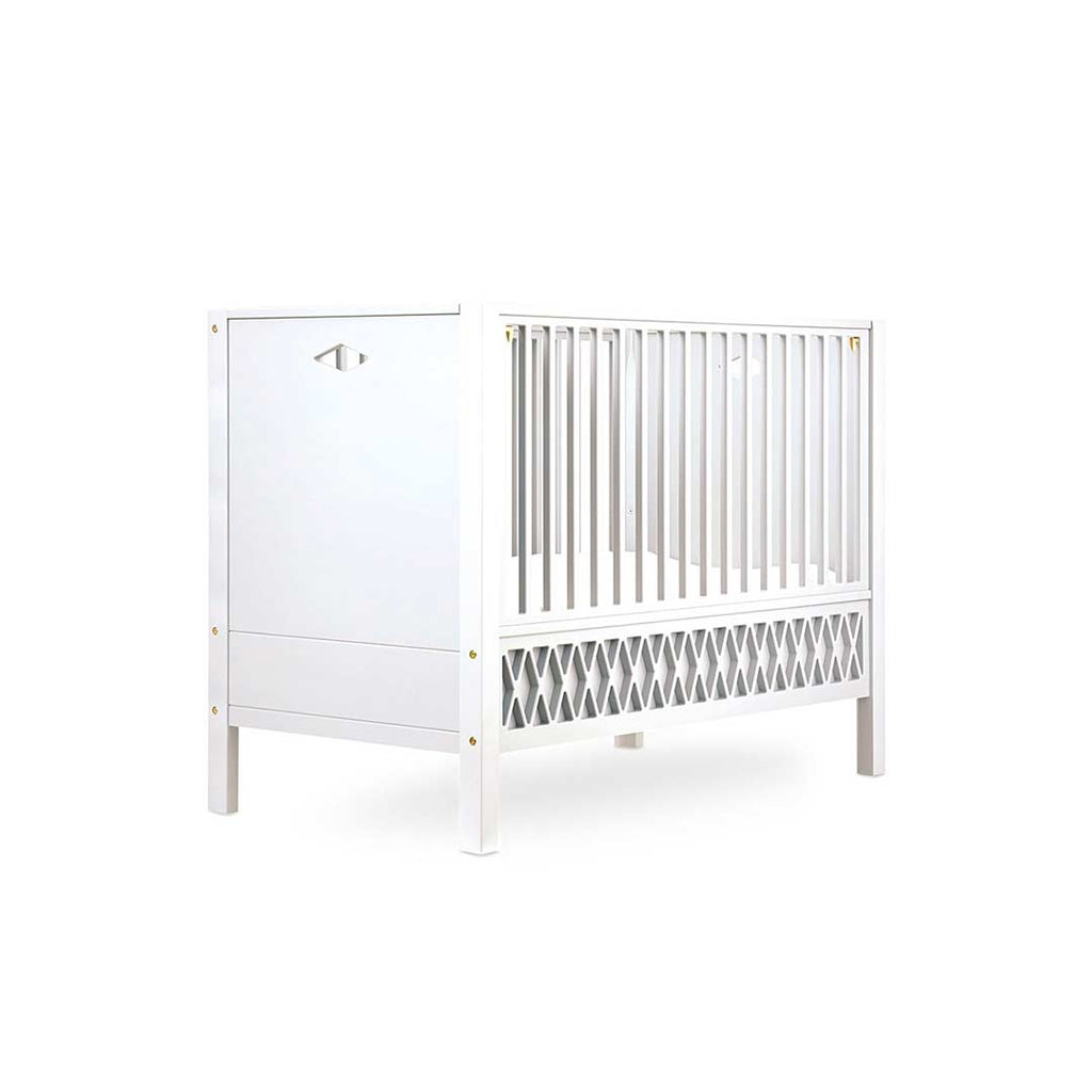 Cam Cam Copenhagen Harlequin Baby Bed - Closed Ends - White-Cot Beds- Natural Baby Shower