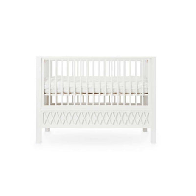 Cam Cam Copenhagen Harlequin Baby Bed - White-Cot Beds- Natural Baby Shower