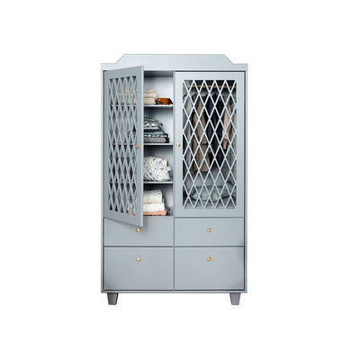 Cam Cam Copenhagen Harlequin Wardrobe - Grey-Wardrobes- Natural Baby Shower