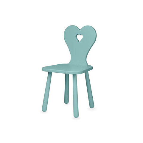 Cam Cam Copenhagen Heart Kids Chair - Canal Green-Nursery Accessories- Natural Baby Shower