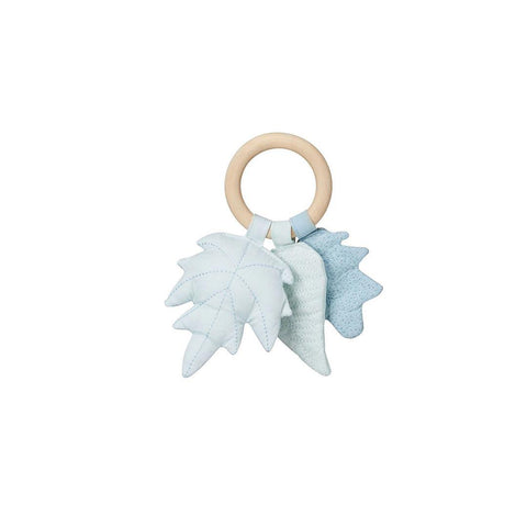 Cam Cam Copenhagen Leaves Rattle - Blue Mix-Rattles- Natural Baby Shower