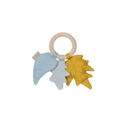 Cam Cam Copenhagen Leaves Rattle - Mix Mustard-Rattles- Natural Baby Shower