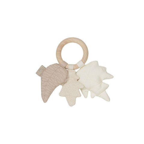 Cam Cam Copenhagen Leaves Rattle - Mix Natural-Rattles- Natural Baby Shower