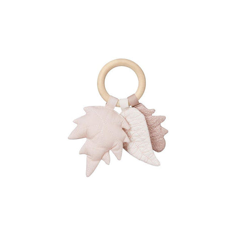 Cam Cam Copenhagen Leaves Rattle - Mix Rose-Rattles- Natural Baby Shower