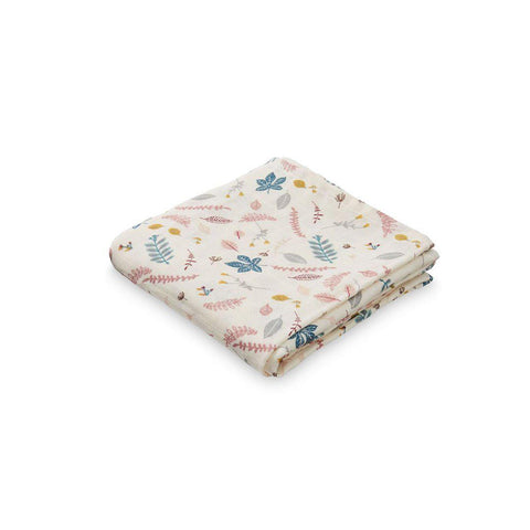Cam Cam Copenhagen Muslin Cloth - Pressed Leaves Rose-Muslin Squares- Natural Baby Shower