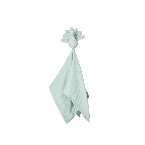 Cam Cam Copenhagen Peacock Cuddle Cloth - Blue Mist-Comforters- Natural Baby Shower