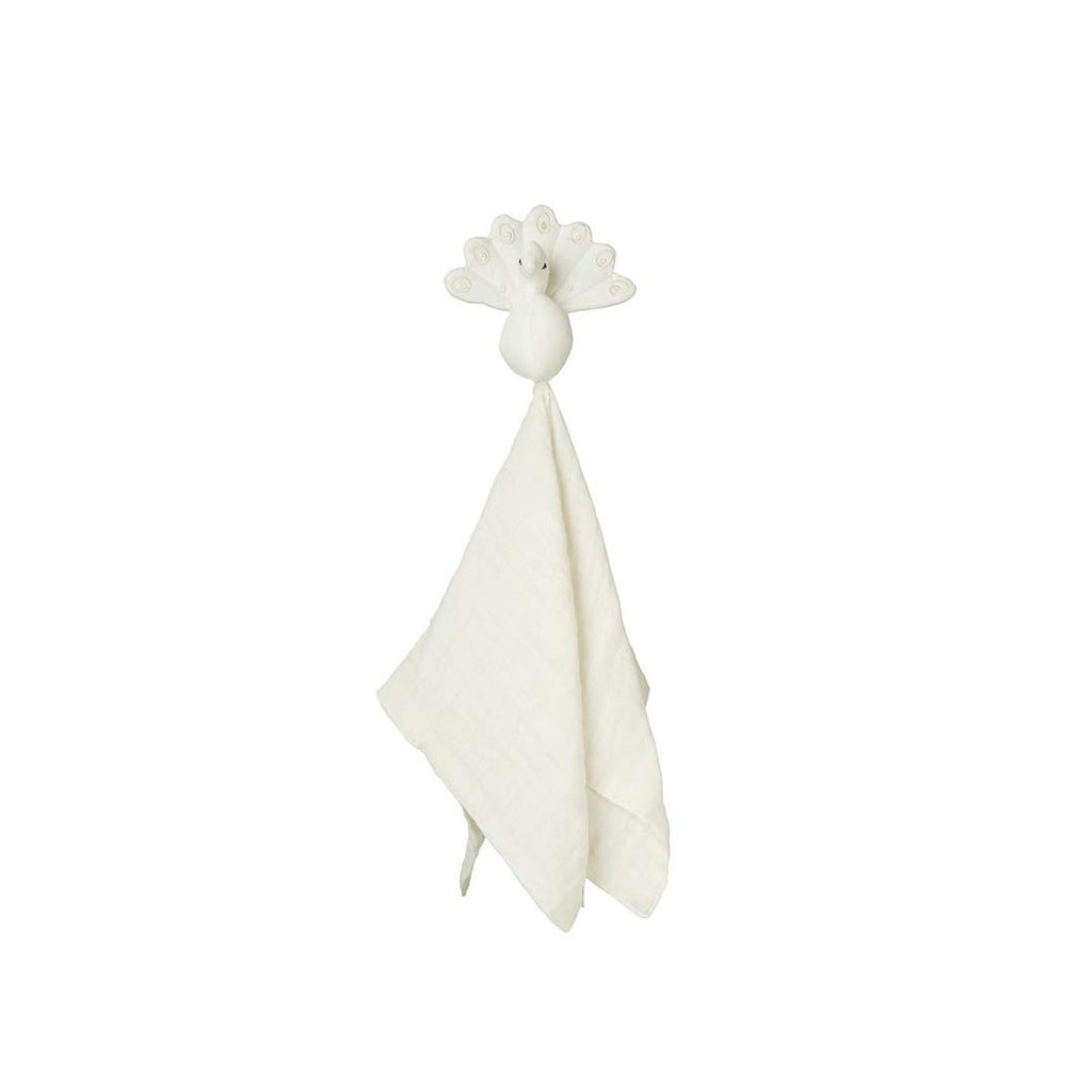 Cam Cam Copenhagen Peacock Cuddle Cloth - Creme White-Comforters- Natural Baby Shower