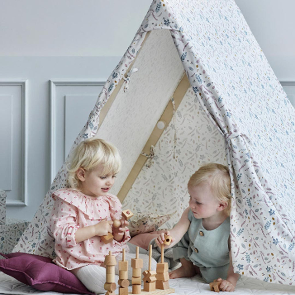 Cam Cam Copenhagen Play Gym Tent - Pressed Leaves Rose-Nursery Accessories- Natural Baby Shower