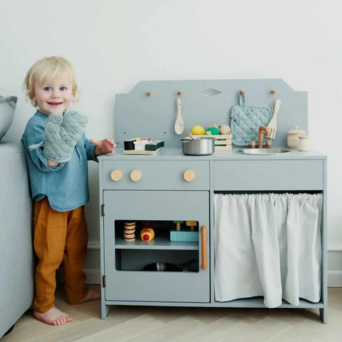 Cam Cam Copenhagen Play Kitchen - Grey-Play Sets- Natural Baby Shower