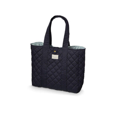 Cam Cam Copenhagen Quilt Tote Bag - Navy-Changing Bags- Natural Baby Shower