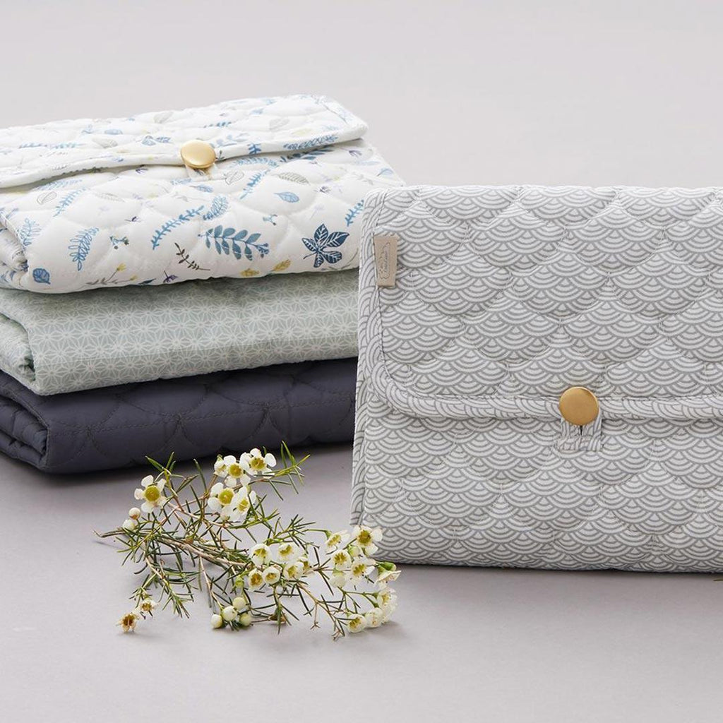 Cam Cam Copenhagen Quilted Changing Mat - Grey Wave 2