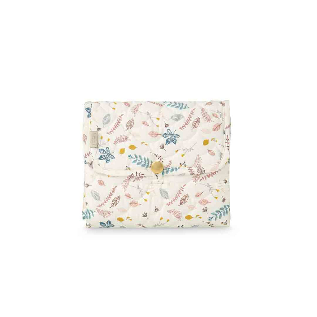 Cam Cam Copenhagen Quilted Changing Mat - Pressed Leaves Rose-Changing Mats & Covers- Natural Baby Shower
