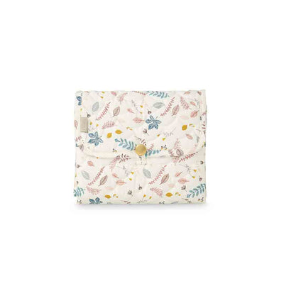 Cam Cam Copenhagen Quilted Changing Mat - Pressed Leaves Rose-Changing Pads- Natural Baby Shower
