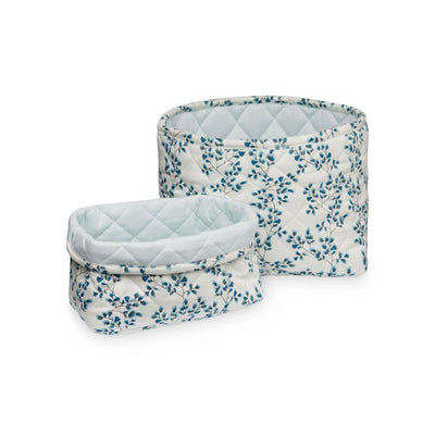 Cam Cam Copenhagen Quilted Storage Baskets - Fiori - 2 Pack-Storage- Natural Baby Shower