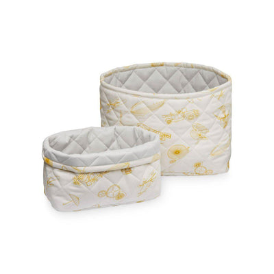 Cam Cam Copenhagen Quilted Storage Baskets - Inventions - 2 Pack-Storage- Natural Baby Shower