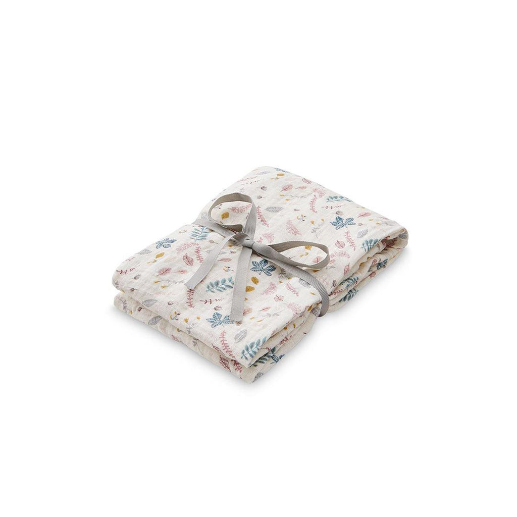 Cam Cam Copenhagen Swaddle 120 x 120 - Pressed Leaves Rose-Swaddling Wraps- Natural Baby Shower