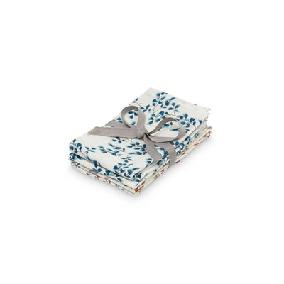 Cam Cam Copenhagen Wash Cloth Muslins - Fiori + Pressed Leaves Rose Mix - 4 Pack-Washcloths- Natural Baby Shower