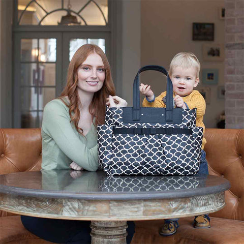 Babymel Changing Bag - Cara - Wave Black-Changing Bags- Natural Baby Shower