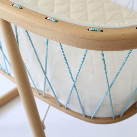 Charlie Crane Kumi Crib - Aqua-Cribs-Default- Natural Baby Shower