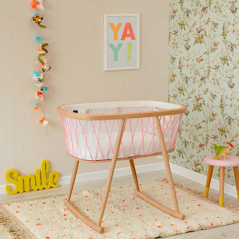 Charlie Crane Kumi Crib - Pink-Cribs-Default- Natural Baby Shower