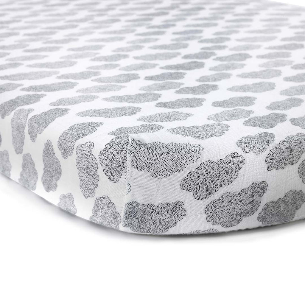 Charlie Crane Kumi Crib Fitted Sheet - Cloud-Sheets-Default- Natural Baby Shower
