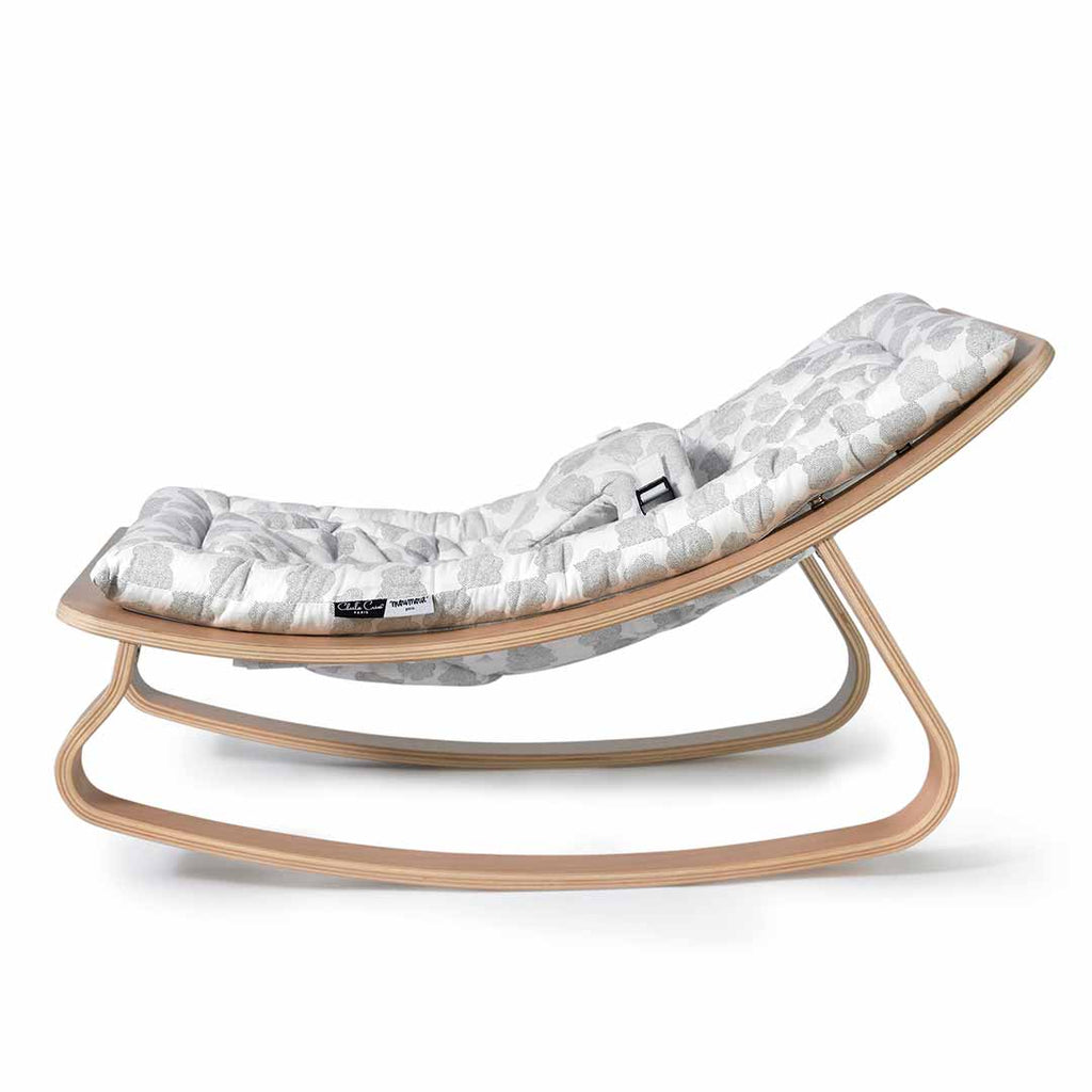 Charlie Crane Levo Baby Rocker - Beech & Moumout Cloud-Rockers- Natural Baby Shower