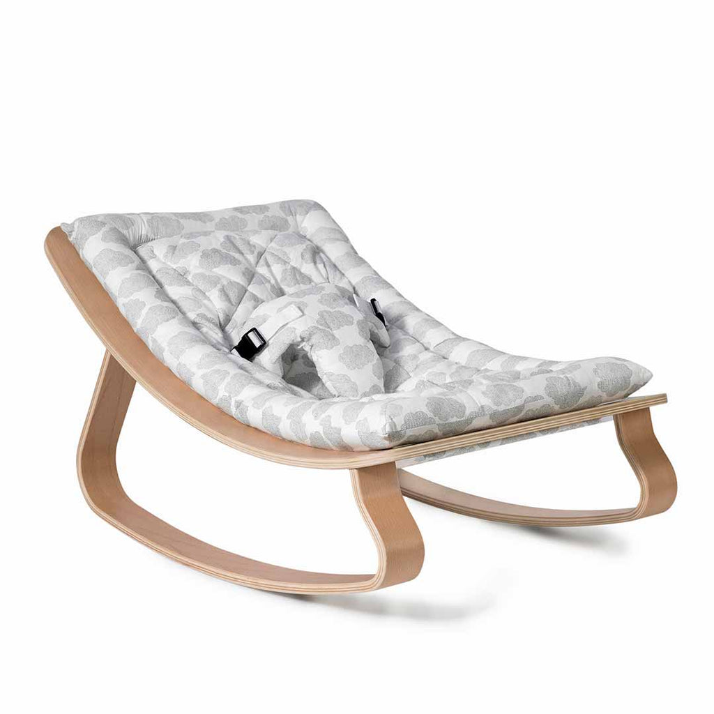Charlie Crane Levo Baby Rocker - Beech & Moumout Cloud-Baby Bouncers- Natural Baby Shower