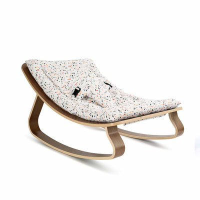 Charlie Crane Levo Baby Rocker - Walnut & Milinane Terrazzo-Rockers- Natural Baby Shower