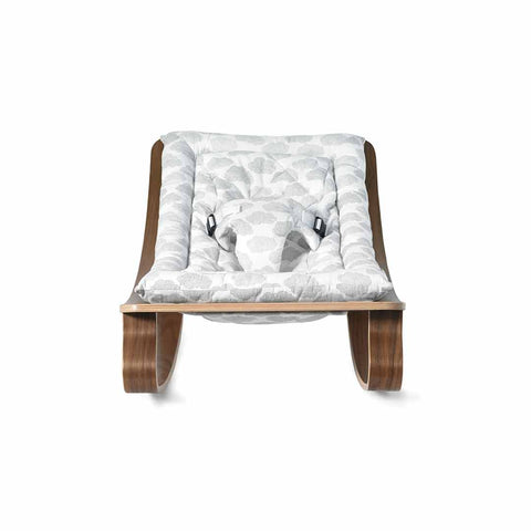 Charlie Crane Levo Baby Rocker - Walnut & Moumout Cloud-Rockers- Natural Baby Shower