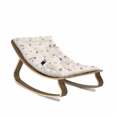 Charlie Crane Levo Baby Rocker - Walnut & Rose in April Fawn-Rockers- Natural Baby Shower