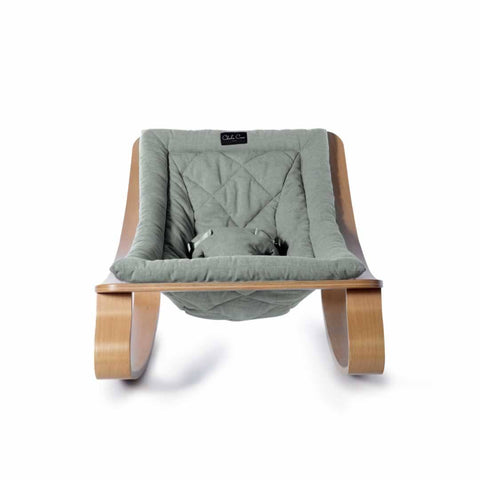 Charlie Crane Levo Baby Rocker - Beech & Aruba Blue - Baby Bouncer - Natural Baby Shower