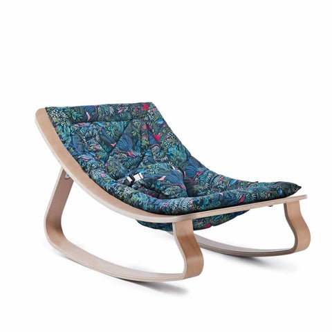 Charlie Crane Levo Baby Rocker in Beech & Jazz Little Cabari