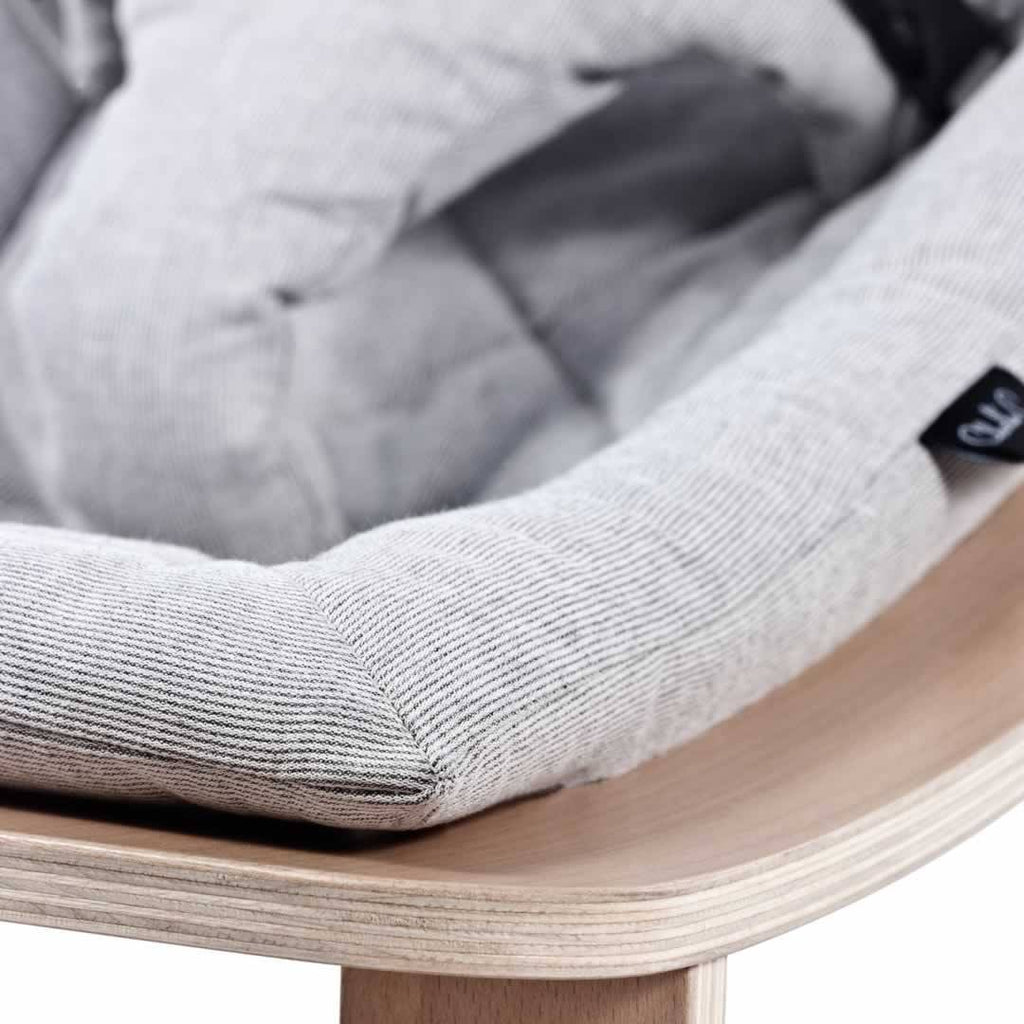 Charlie Crane Levo Baby Rocker - Beech & Sweet Grey Close Up