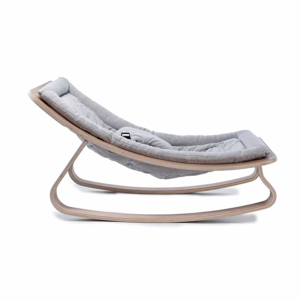 Charlie Crane Levo Baby Rocker - Beech & Sweet Grey Side