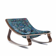 Charlie Crane Levo Baby Rocker in Walnut & Jazz Little Cabari