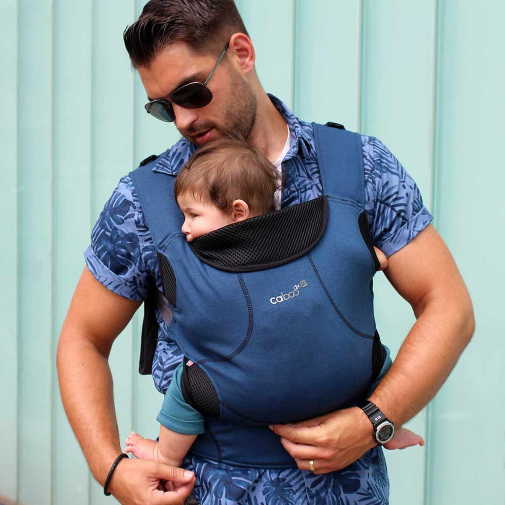 Close Caboo DXgo Baby Carrier - Ink Blue 4