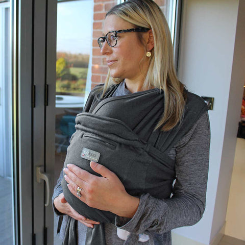 Close Caboo + Cotton Blend Baby Carrier - Phantom-Baby Carriers-Default- Natural Baby Shower