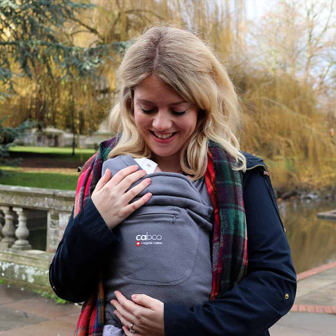 Close Caboo + Organic Baby Carrier - Pewter-Baby Carriers-Default- Natural Baby Shower