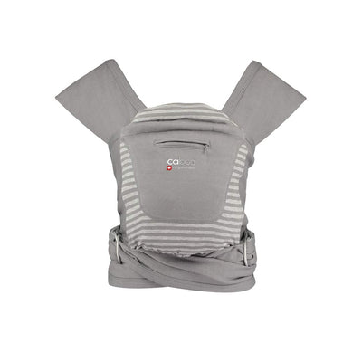 Close Caboo + Organic Striped Baby Carrier - Steel Marl Stripe-Baby Carriers-Default- Natural Baby Shower