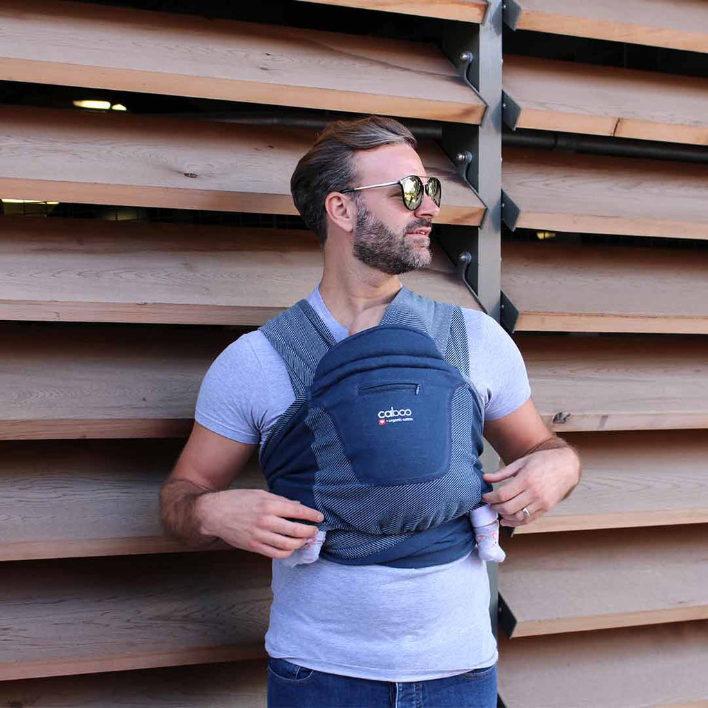 Close Caboo + Organic Striped Baby Carrier - Midnight-Baby Carriers-Default- Natural Baby Shower
